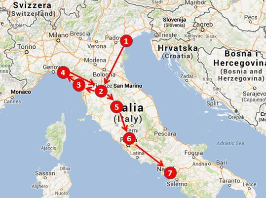 Italy - tour - 2 weeks