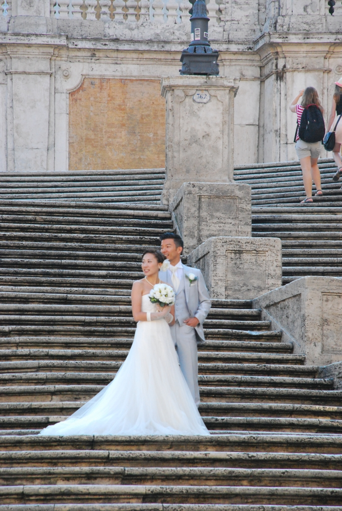 Rome-marriage on the Spanish steps
