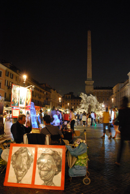 Visit Rome_Rome_night_Piazza Navona_Painters 2_01