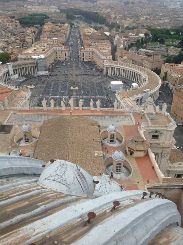 St Peter's square from cupola