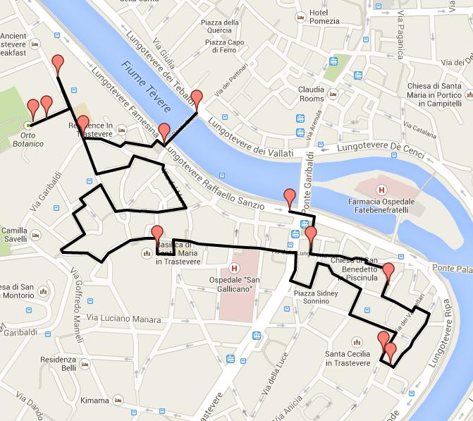 www.delightfullyitaly_Rome-Walk in Trastevere Map