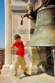 Climbing on top of Pisa leaning tower - Pisa leaning tower bell